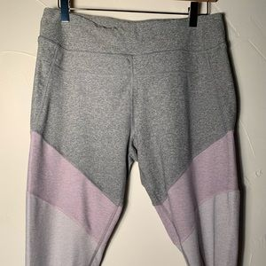 Grey and Lavender XL Calvin Klein Cropped Leggings